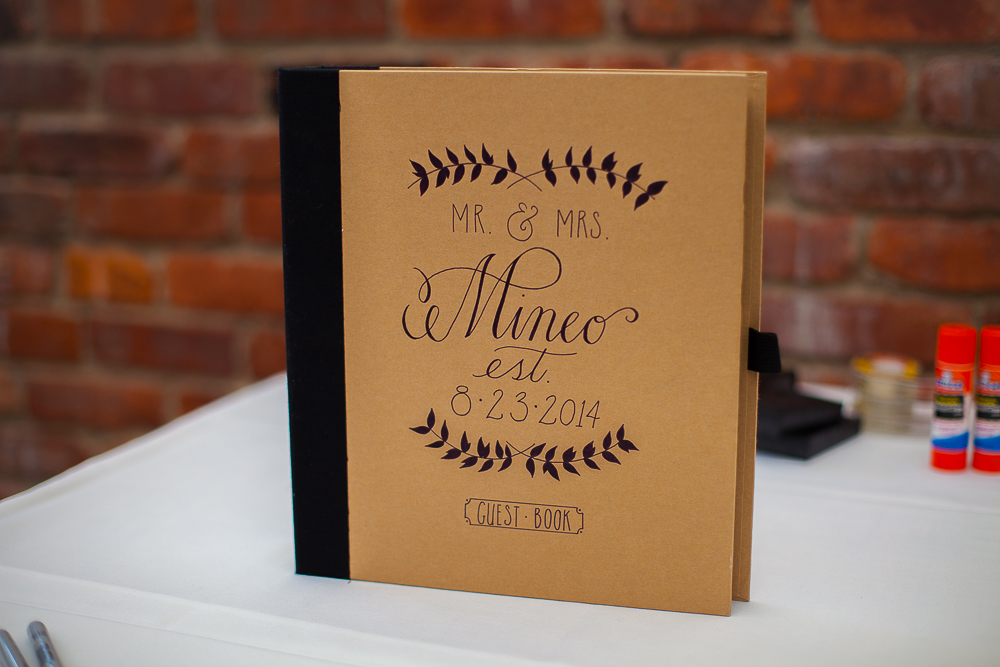 Hand Lettered guestbook completely inspired by  PrintSmitten