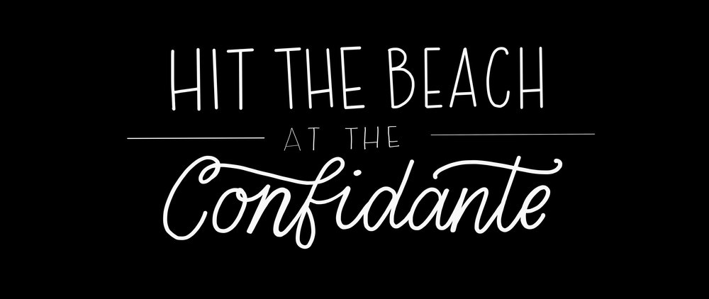 Handlettering - Hit the Beach at the Confidante.jpeg