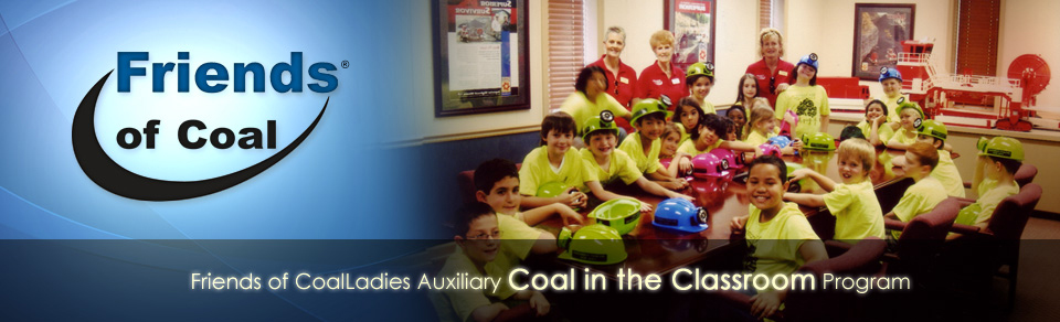 Banner on the Friends of Coal Website