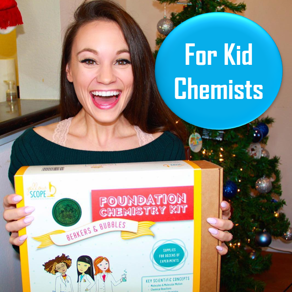 Chemistry Kit for Kids - Ages 8-12   This is a great first chemistry kit for the kids in your life! I've played with it myself and I love it. Great for budding chemists age 8-12.