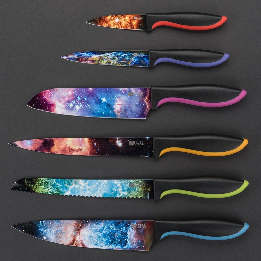 Cosmic Knives   Spacey Knives for the curious friend who can't have enough space stuff.