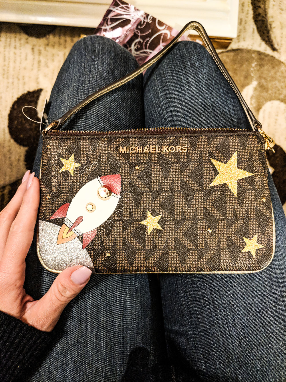 Rocket Clutch   Michael Kors limited edition rocket clutch - this is sold out on Amazon / Michael Kors, so I'm linking to one on Ebay here.