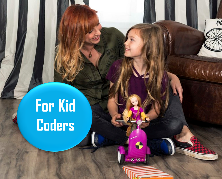 "Smart Gurlz Coding Dolls - Ages 5+   These dolls can roll around your house based on code your kid develops. Kari Bryon endorsed! Promising Amazon review: ""My daughter LOVES this doll. She has shown an interest in coding and this app brought together her love of dolls and technology."""