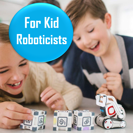 Cozmo the Robot - Ages 8+   Try not to fall in love with this adorable little robot that you can code yourself. My husband and I have one (yes, we know it's for kids!) and I love it so gosh darn much. This little robot has over 300 5-star reviews on Amazon, so it's basically guaranteed to be a good gift.