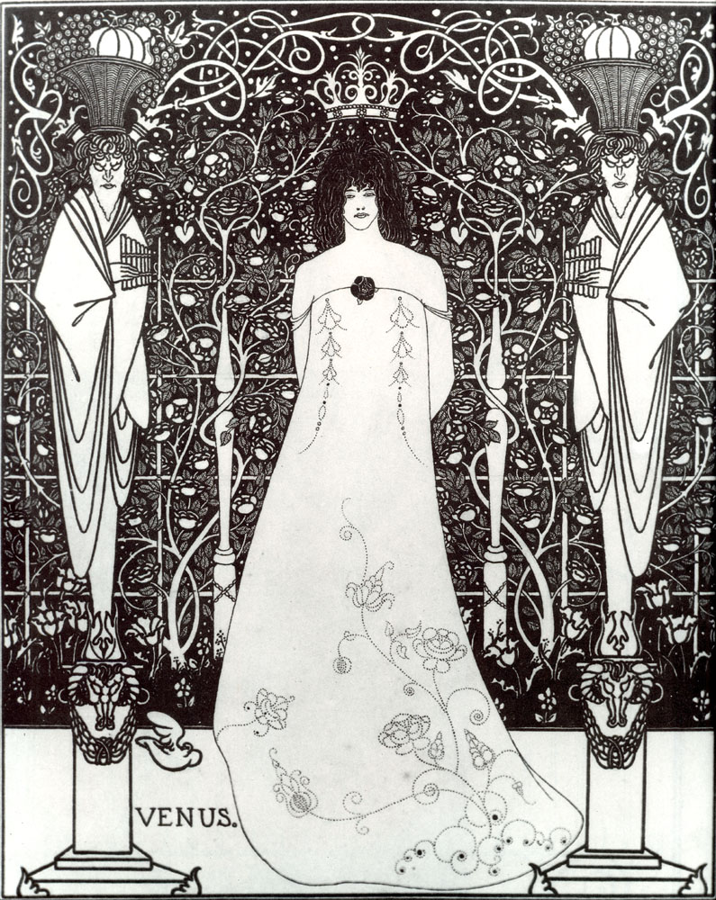 """  Venus between Terminal Gods""                        Aubrey Beardsley"