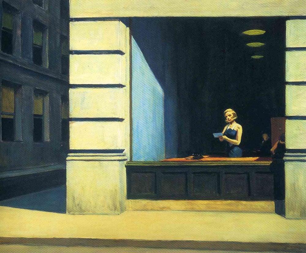 """""""New York Office""""  -Ed Hopper"""