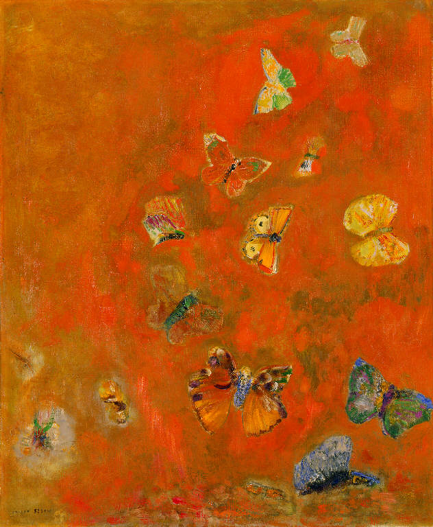 Evocation of Butterflies - Odile Redon