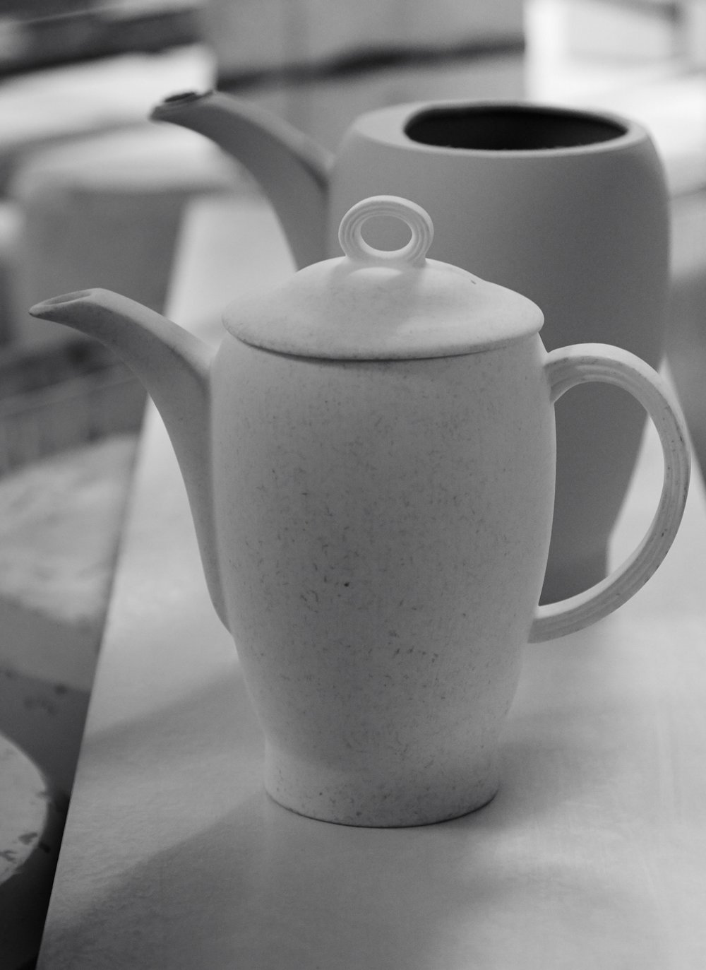 A teapot ready for glazing.