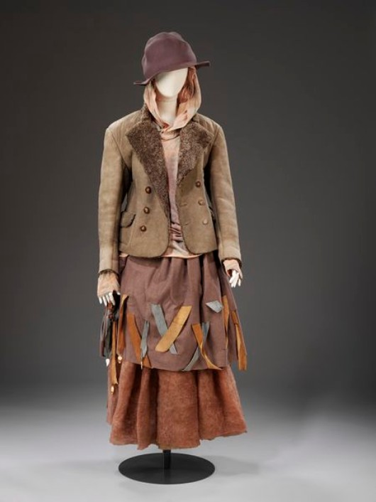 "An ensemble from the 1982 ""Buffalo"" collection at the V&A Museum."