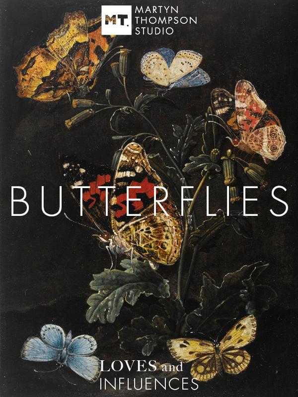 Forest Floor Still Life with Butterflies, Elias van den Broeck