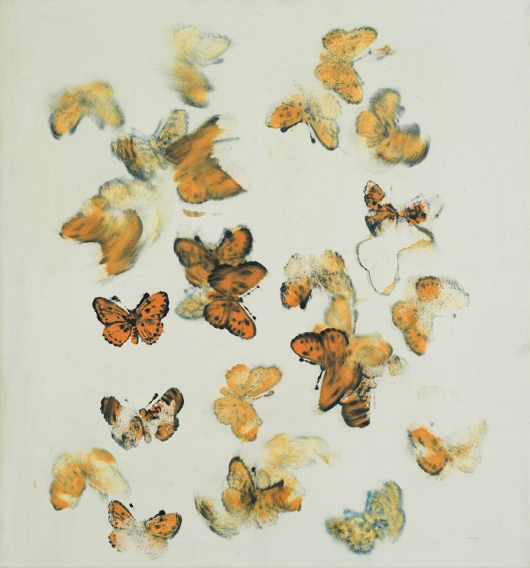 Petr Pastrňák (Czech, b. 1962),Butterflies, 1998-2002. Oil on canvas, 75 x 80 cm.