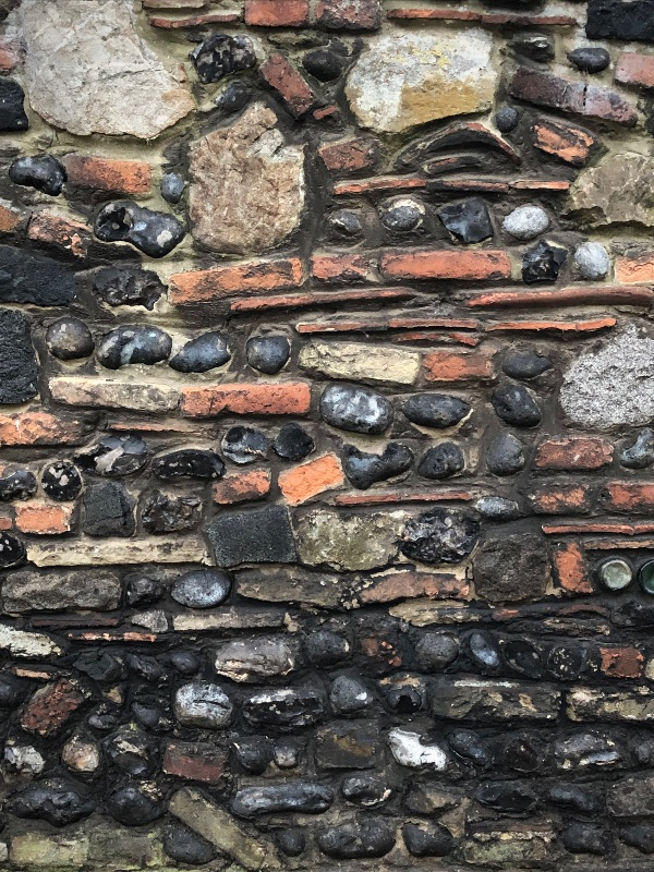 Wall detail in Sandwich, Kent
