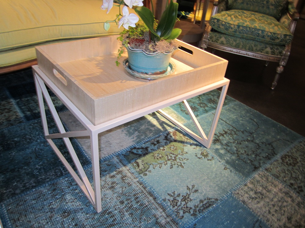 ron fiore century furniture. a round two table with simple leg and lower shelf ron fiore century furniture