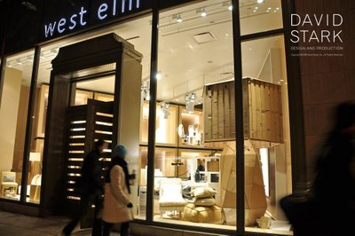 For The Grand Opening Event Of NYCs Newest West Elm Store David Stark Was Asked To Get Creative With Recycling And Created A Truly Inspired Landscape Out