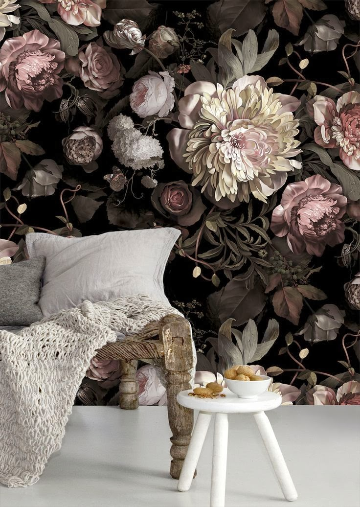 The glorious blooms of ellie cashman wallpaper www for Floral wallpaper for walls