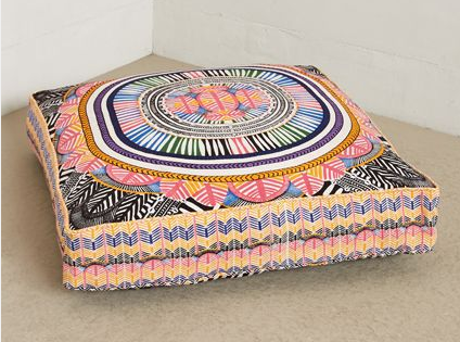 My Favorite Item Of The Collaboration, Giant Floor Pillows. With A Chevron  And Radiating Tribal Floral Print, The Online Only Floor Pillows. Available  June ...