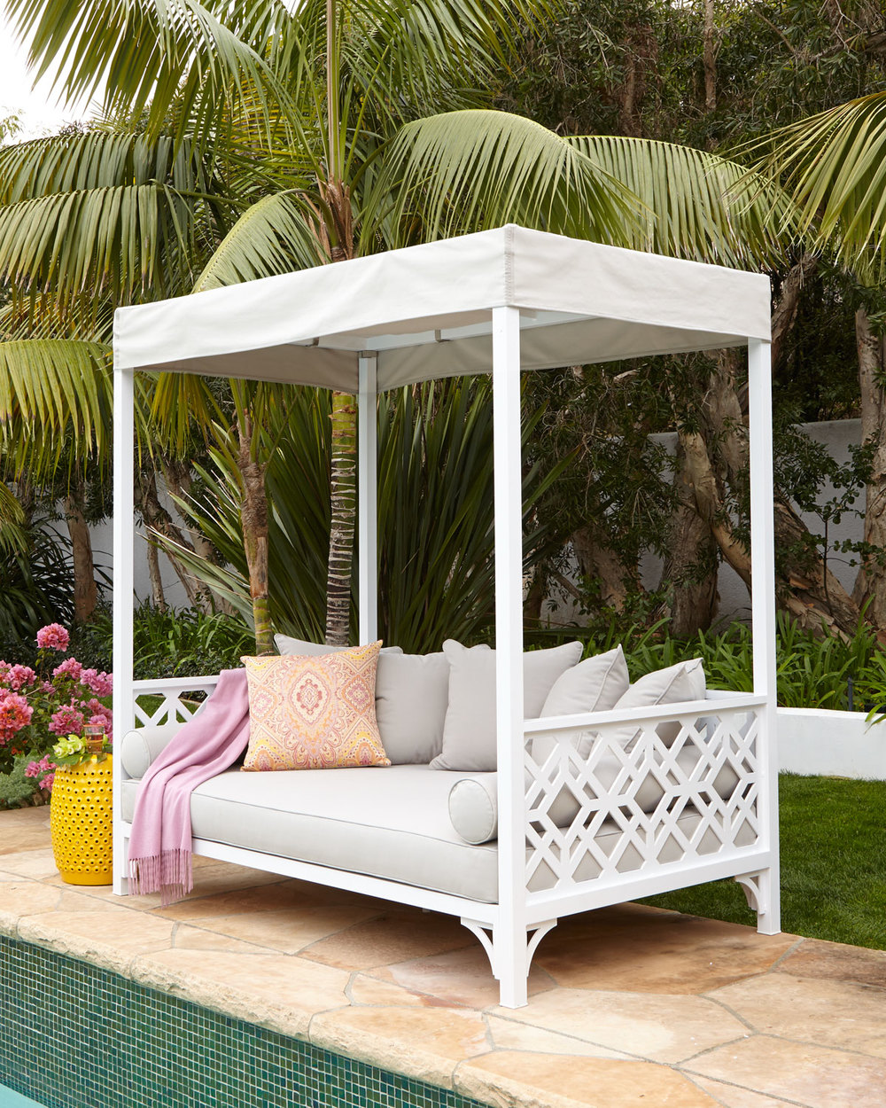 Photo courtesy of Horchow & MADE IN THE SHADE: A CANOPY-COVERED OUTDOOR DAYBED MADE FOR ...