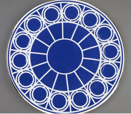Out of the blue geo pop tabletop design from custhom for Pop window design