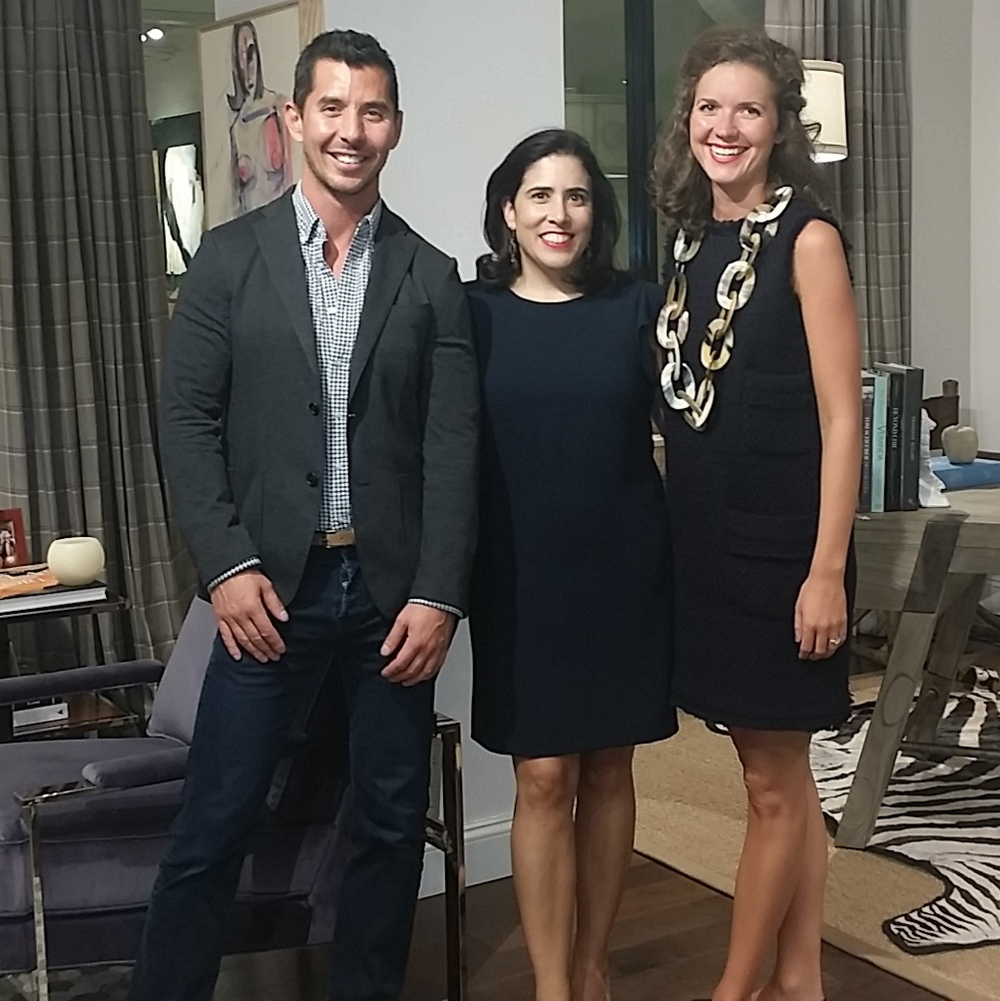 Eddie Lee and Lindsey Lane created dynamic vignettes with Lexington and joined my young design talent panel at the What's New What's Next event at The New York Design Center