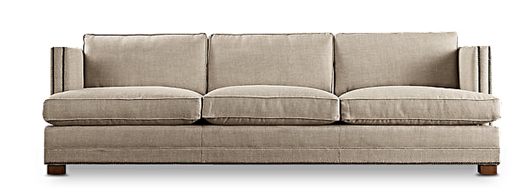 A Three Seater Tuxedo Sofa With A Lawson Arm And Nailhead Trim On The  Sonoma Sofa Provides For Optimum Lounging Comfort