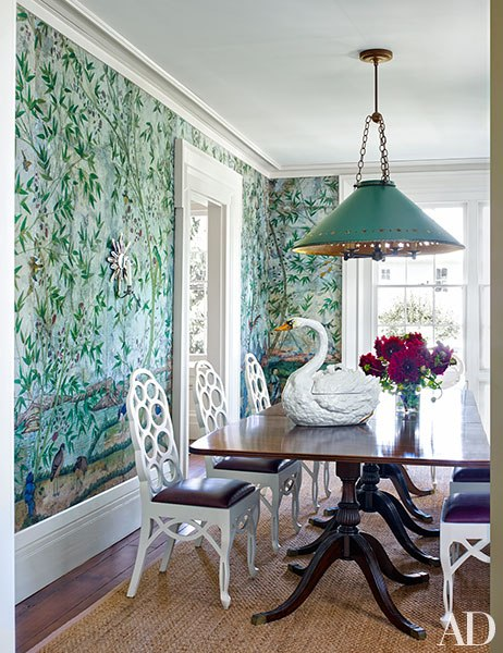 To Bring In Linear Pattern He Included A Zebra Rug That Once Belonged Albert Hadley Charming Hooked Resembles The Real Thing