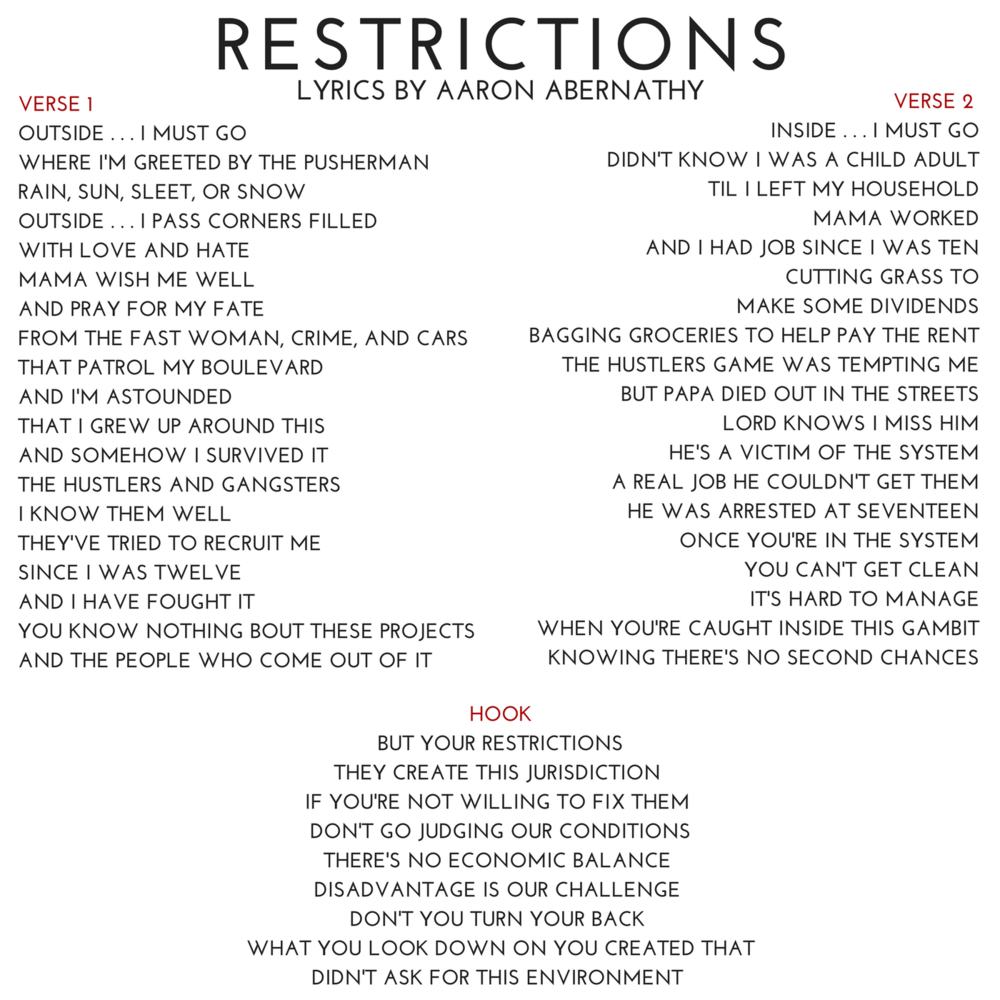 03 RESTRICTIONS Lyrics by Aaron Abernathy.png