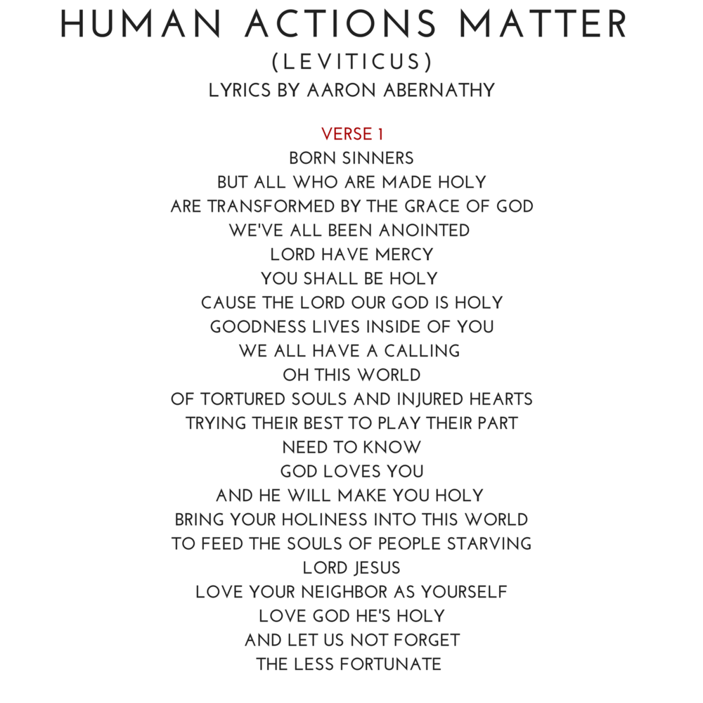 06 HUMAN ACTIONS MATTER (LEVITICUS) Lyrics by Aaron Abernathy.png