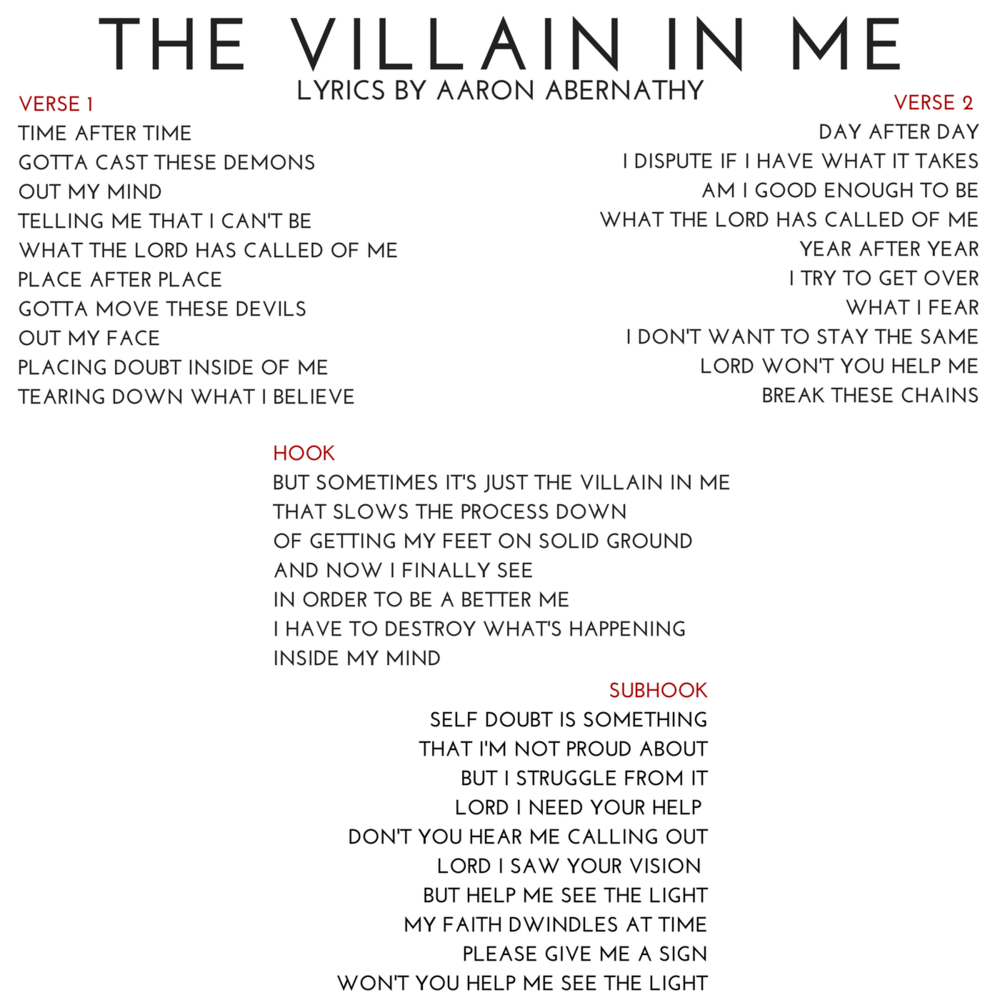 09 THE VILLAIN IN ME Lyrics by Aaron Abernathy.png