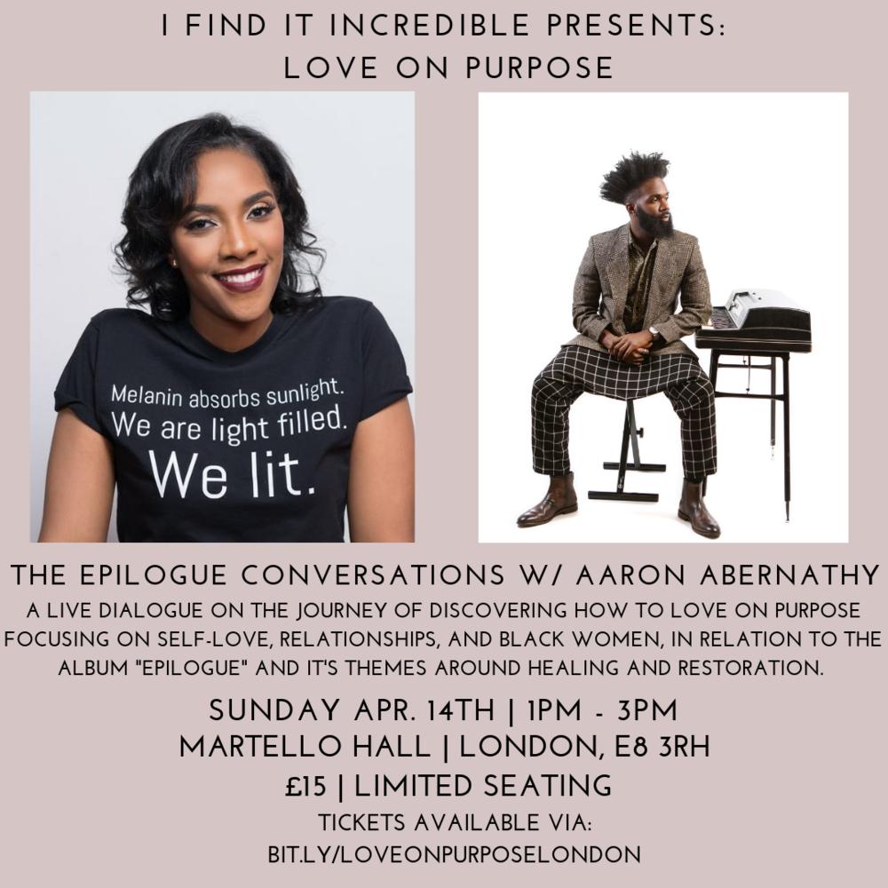 EPILOGUE CONVERSATION LONDON |   RSVP HERE