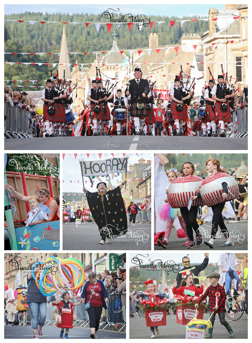 Peebles Beltane Festival Fancy Dress Parade Event Photography