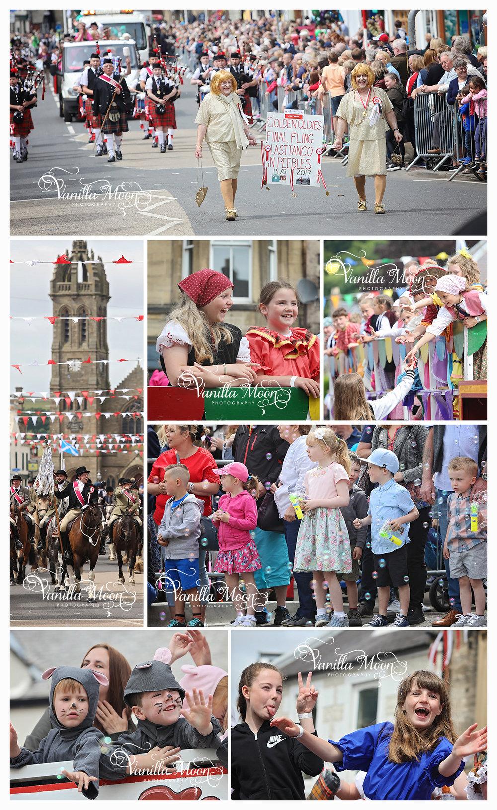 Peebles Beltane Grand Parade Scottish Borders Photography