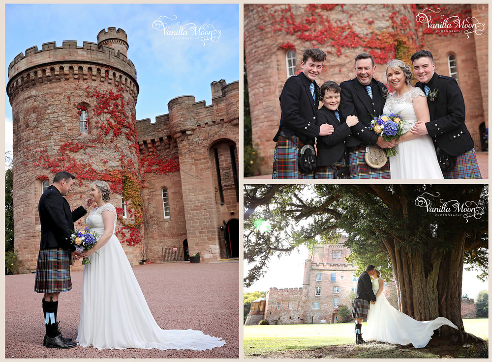 Wedding Photography Scotland, Dalhousie Castle