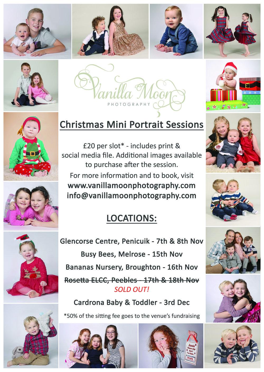 Christmas Mini Portrait Sessions Peebles, Cardrona, Broughton, Melrose, Auchendinny