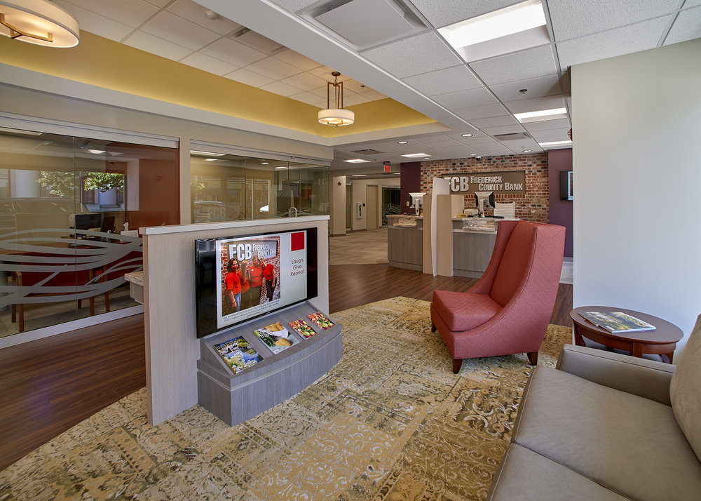Frederick County Bank Frederick, MD 3,739 Sq. Ft. Interior Renovation  Having Just Updated