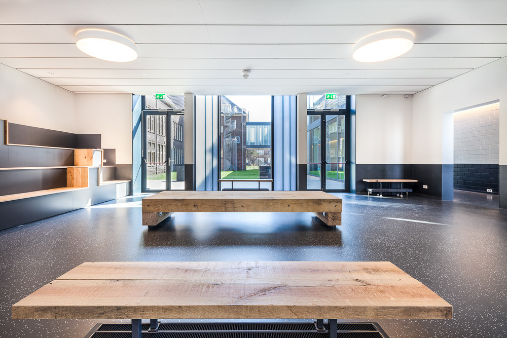 Photography of part of the interior of the Vellesan College in IJmuiden