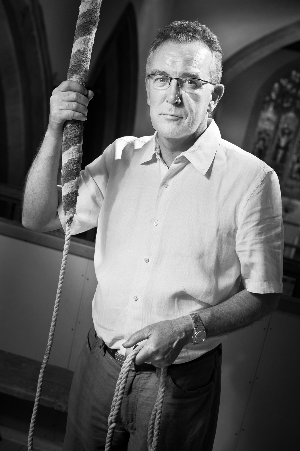 Church bell ringer Tony Smith