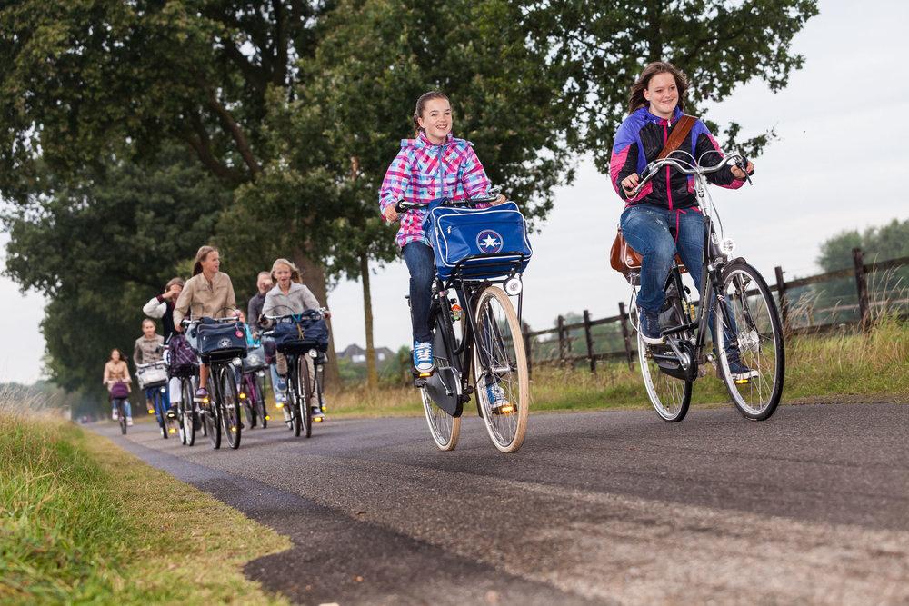 Naar school fietsen