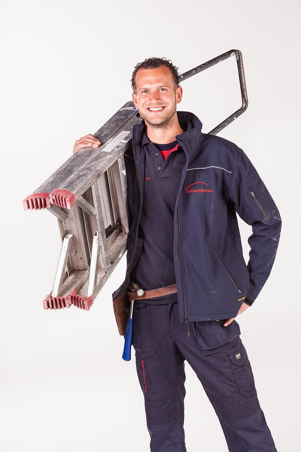 Studiofoto bouwvakker