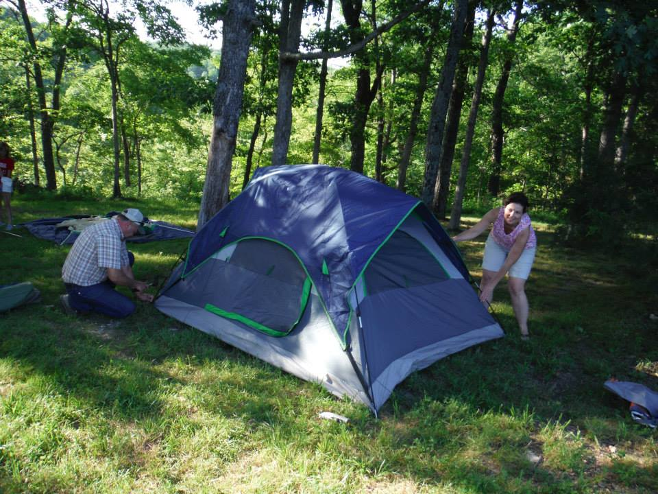 Tent Camping - $8 per person the first night $5 per person each additional night