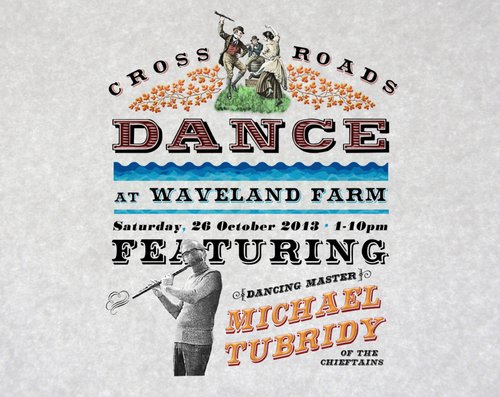 A web ad for a gen-u-ine crossroads dance held in 2013, with special guest Michael Tubridy.