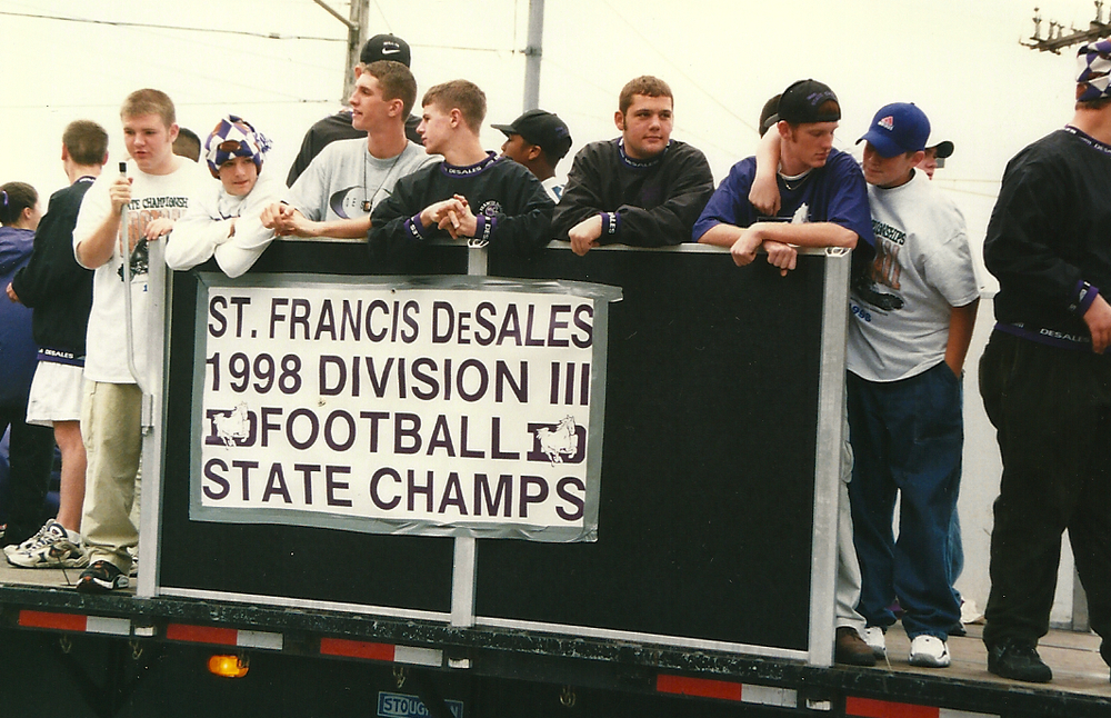 The Stallions' parade float