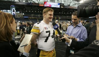 Media Day at Super Bowl XL