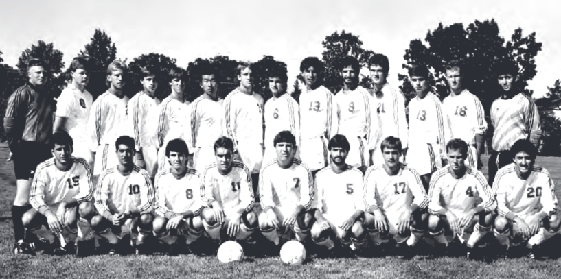 Pictured here (#20) with the 1986 NCAA Quarterfinalists (photo credit - Ohio Wesleyan University)
