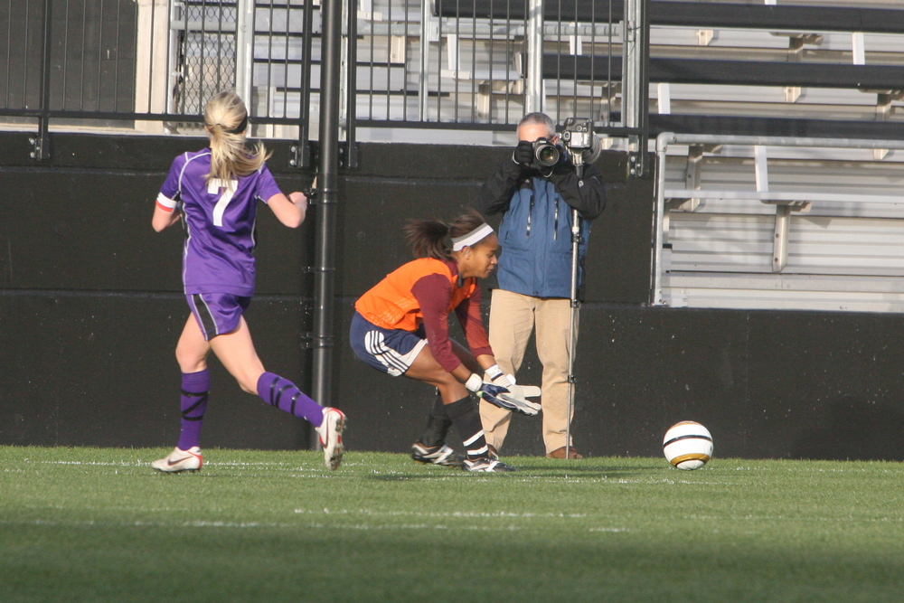 Goalkeeper Becca Dowling-Fitzpatrick collects the ball in the state title game