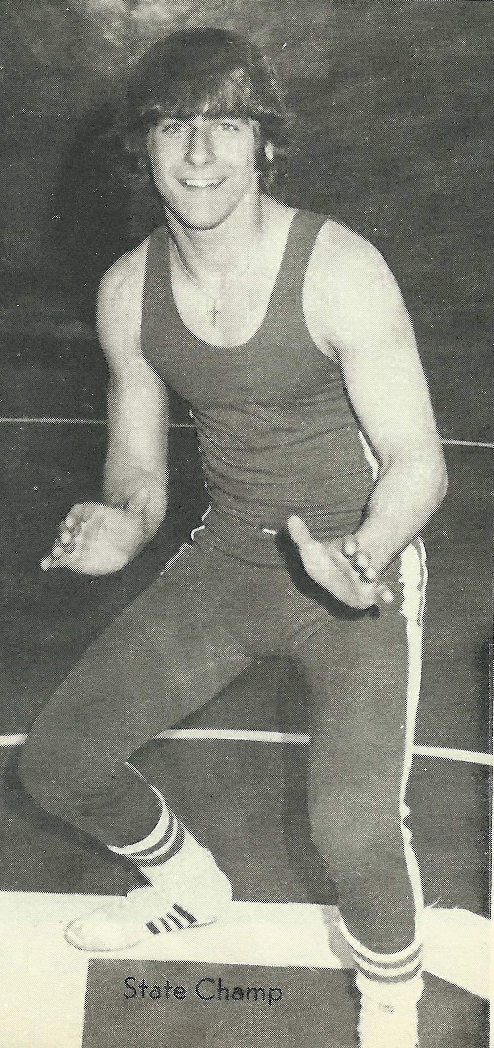 1977 STATE CHAMPION  Tim Palermini, 132 Pounds