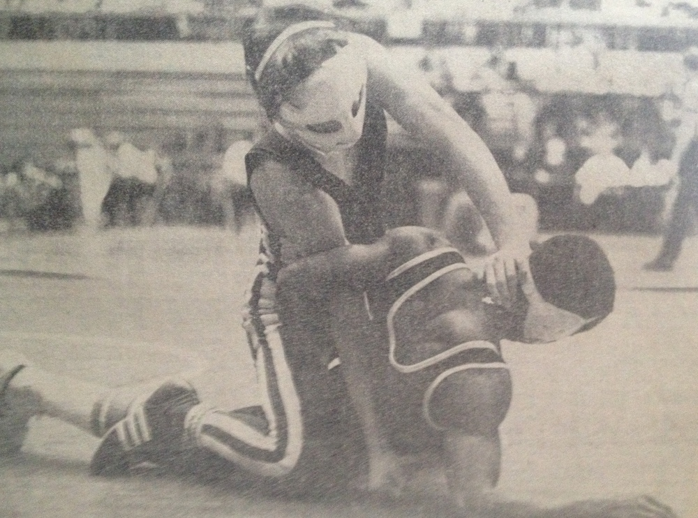 Pat Zimmer in the State Tournament against Ken Meeks from Painesville Harvey