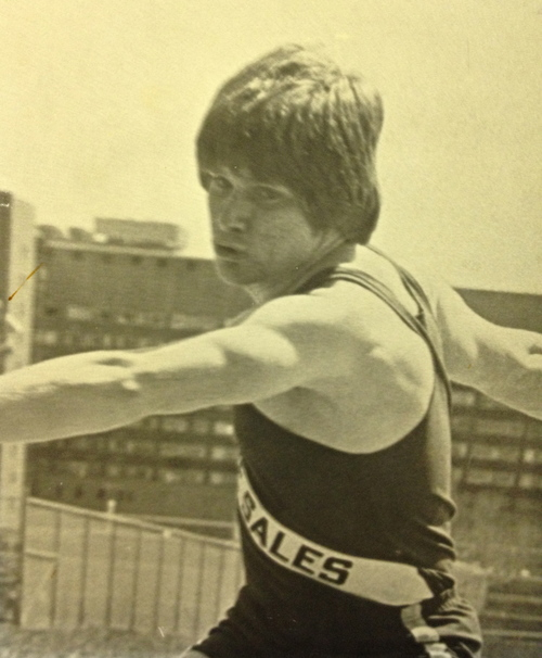 1978 STATE CHAMPION  Brian Dowds, Discus