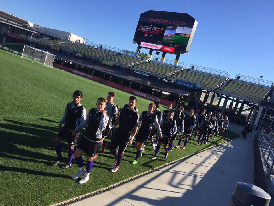 The Stallions enter MAPFRE Stadium