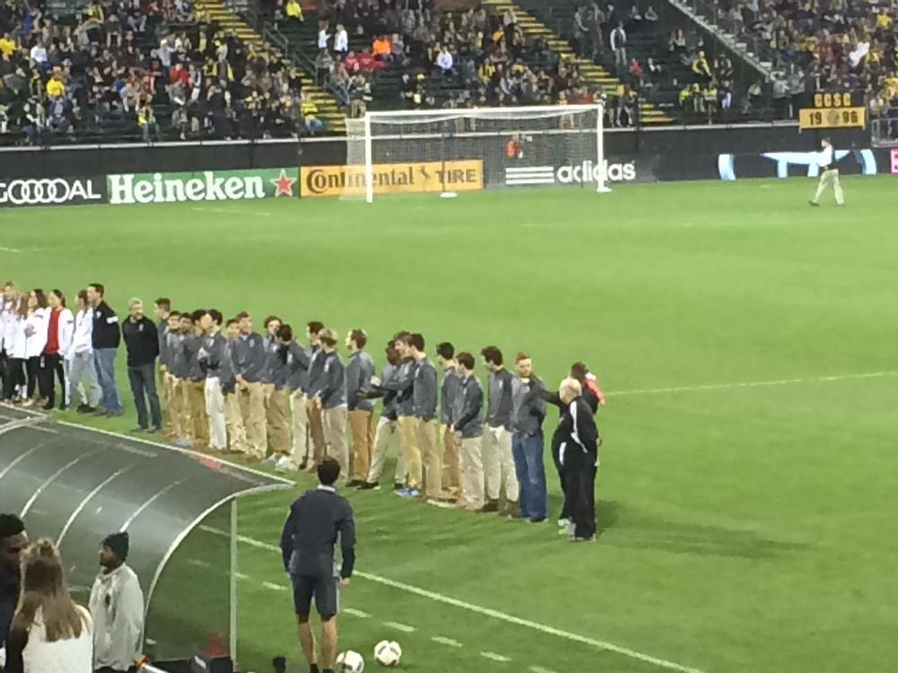 Recognition at the Columbus Crew Opener