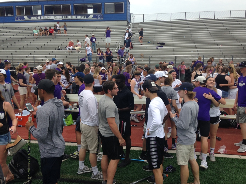 Stallion friends and family congratulate the team